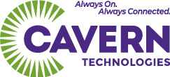 cavern technologies always on always connected logo and tagline