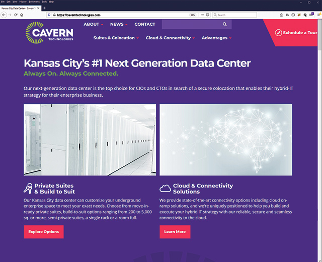 our new cavern website
